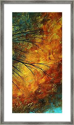 Abstract Landscape Art Passing Beauty 5 Of 5 Framed Print by Megan Duncanson
