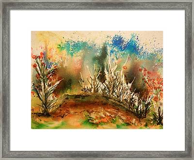 Abstract Landscape Framed Print by Betty-Anne McDonald