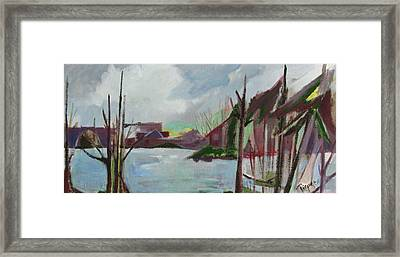 Abstract Landscape Framed Print by Betty Pieper