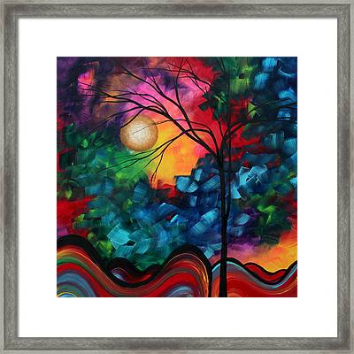 Abstract Landscape Bold Colorful Painting Framed Print