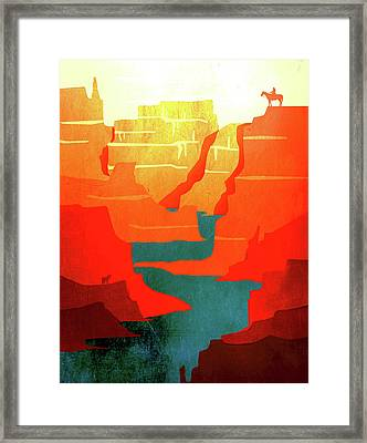 Abstract Landscape Canyon Art 1 - By  Diana Van Framed Print