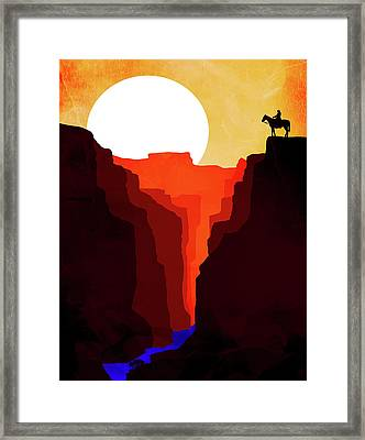 Abstract Landscape Canyon Art 4 - By Diana Van Framed Print