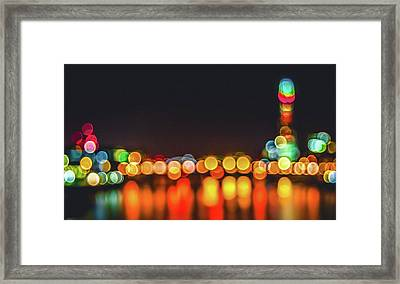 Abstract Landscape - Cityscape Urban Art - Shallow Dof Photography Framed Print by Wall Art Prints