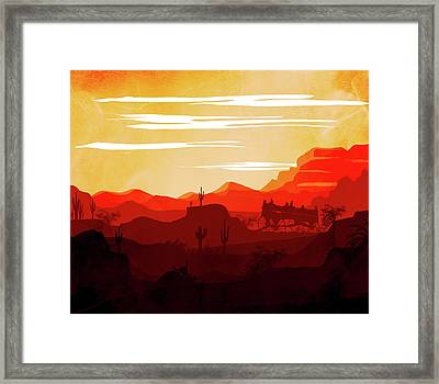 Abstract Landscape Ghost Town Art 2 - By Diana Van Framed Print