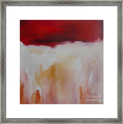 Abstract Landscape In Red Framed Print by Xx X