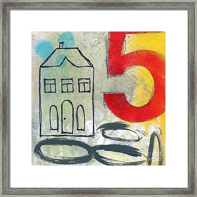Abstract Landscape Framed Print by Linda Woods