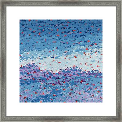 Abstract Landscape Painting 1 Framed Print by Gordon Punt