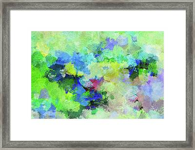 Framed Print featuring the painting Abstract Landscape Painting by Ayse Deniz