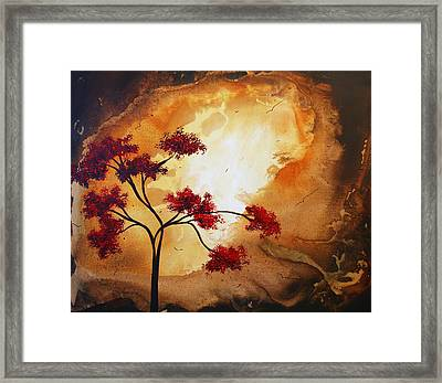 Abstract Landscape Painting Empty Nest 12 By Madart Framed Print by Megan Duncanson