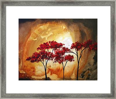 Abstract Landscape Painting Empty Nest 2 By Madart Framed Print by Megan Duncanson