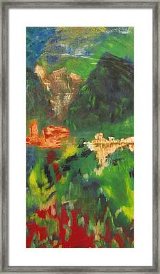 Framed Print featuring the painting Abstract Landscape by Patricia Cleasby