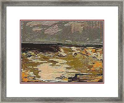 Framed Print featuring the digital art Abstract Landscape by Pemaro