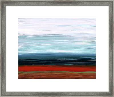 Abstract Landscape - Ruby Lake - Sharon Cummings Framed Print by Sharon Cummings