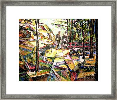 Abstract Landscape With People Framed Print