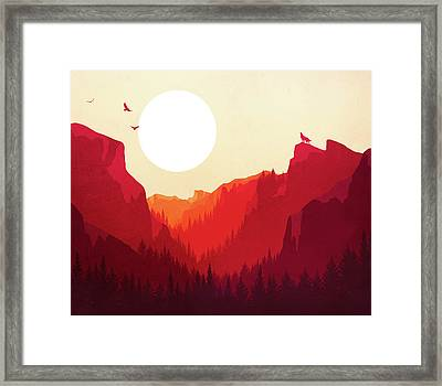 Abstract Landscape Yosemite National Park 1 - By Diana Van Framed Print