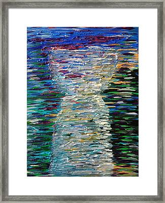 Abstract Latte Stone Framed Print
