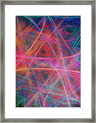 Abstract Light Show Framed Print