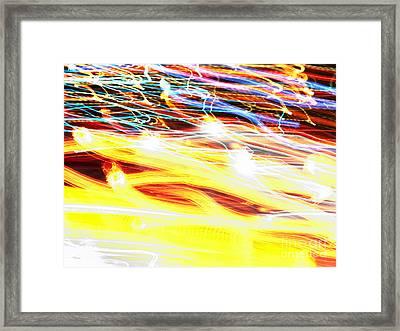 Abstract Light Framed Print by Tony Cordoza