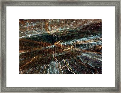 Abstract Lights 1 Framed Print by Balanced Art