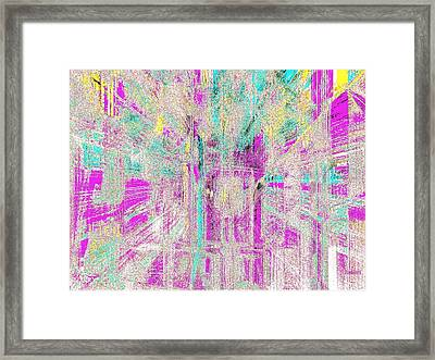 Framed Print featuring the glass art Abstract Lights  by Fania Simon