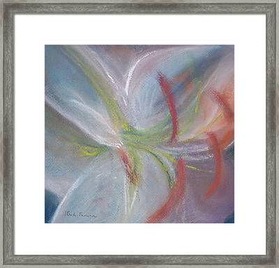 Abstract Lily Framed Print by Jackie Bush-Turner