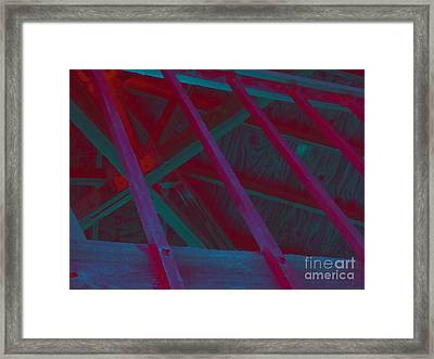 Abstract Line Framed Print by John  Bichler