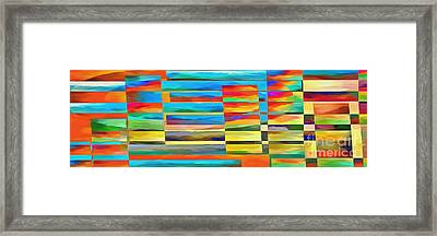 Abstract Lines And Shapes 2 Framed Print by Edward Fielding