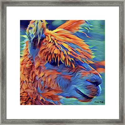Abstract Llama Framed Print by Kathy Kelly