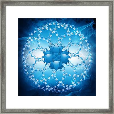 Abstract Lotus Flower Symbol Framed Print by Serena King