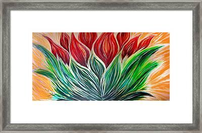 Abstract Lotus Framed Print