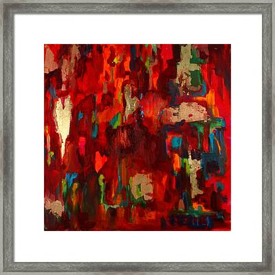 Abstract Love Framed Print by Billie Colson