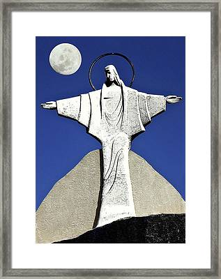 Abstract Lutheran Cross 5 Framed Print by Bruce Iorio