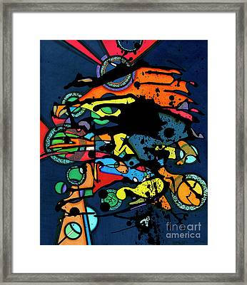 Abstract Man  Framed Print