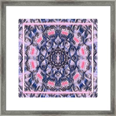Abstract Mandala Pattern Framed Print