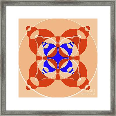 Abstract Mandala Pink, Orange And Blue Pattern For Home Decoration Framed Print by Pablo Franchi