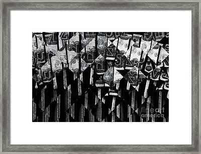 Abstract Matrix Framed Print by Michal Boubin