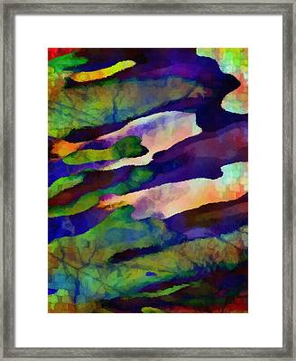 Abstract Merging. Framed Print by Delynn Addams