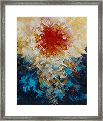 Abstract Blood Moon Framed Print