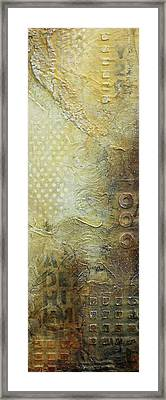 Abstract Modern Art Earth Tones Framed Print by Patricia Lintner