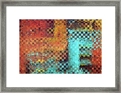 Abstract Modern Art - Pieces 1 - Sharon Cummings Framed Print by Sharon Cummings
