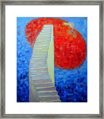 Abstract Moon Framed Print by Ana Maria Edulescu