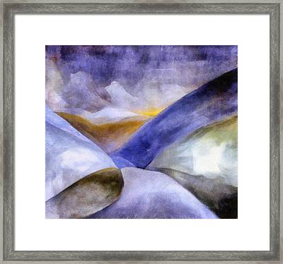 Abstract Mountain Landscape Framed Print by Michelle Calkins