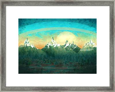Abstract Mountain Framed Print by Thubakabra
