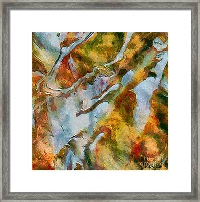 abstract mountains I Framed Print