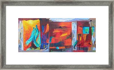Abstract Mural Framed Print by Liz McQueen