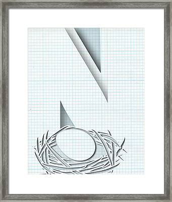 Abstract N Framed Print by Vanessa Bates