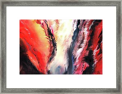 Framed Print featuring the painting Abstract New by Anil Nene