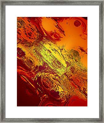 Abstract Nine-masks Framed Print by Patricia Motley