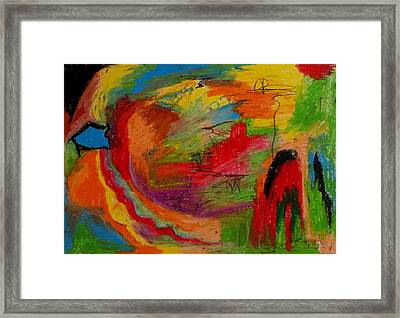 Abstract No. 3 Inner Landscape Framed Print