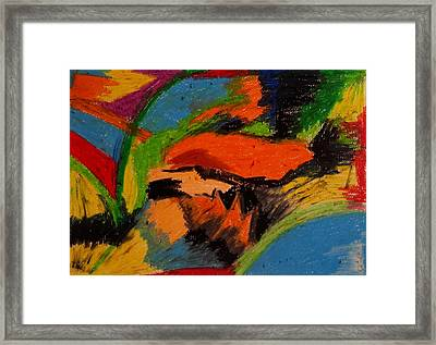 Abstract No. 4 Inner Landscape Framed Print
